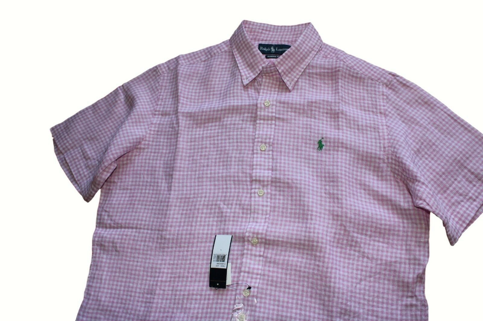 Polo Ralph Lauren Classic Fit Short Sleeve Linen Sport Shirt in Size Large