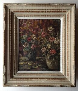 Tableau Post-impressionniste Bouquet d'Anémones Huile style Georges d'ESPAGNAT