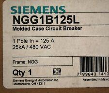 Siemens NGG1B125L, 25 AMP, 1 Pole, Molded Case Circuit Breaker, Din Rail - NEW