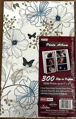 Pioneer Photo Album 3 RING BINDER STC46 300 Pkt 4x6 Fresh Breeze Design