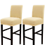 strech soft dining chair covers for counter height side bar stool chair 2pcs,