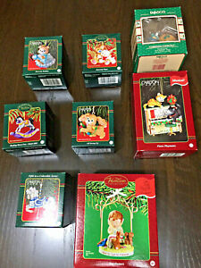 Carlton-Christmas-Ornaments-Lot-of-8-pieces