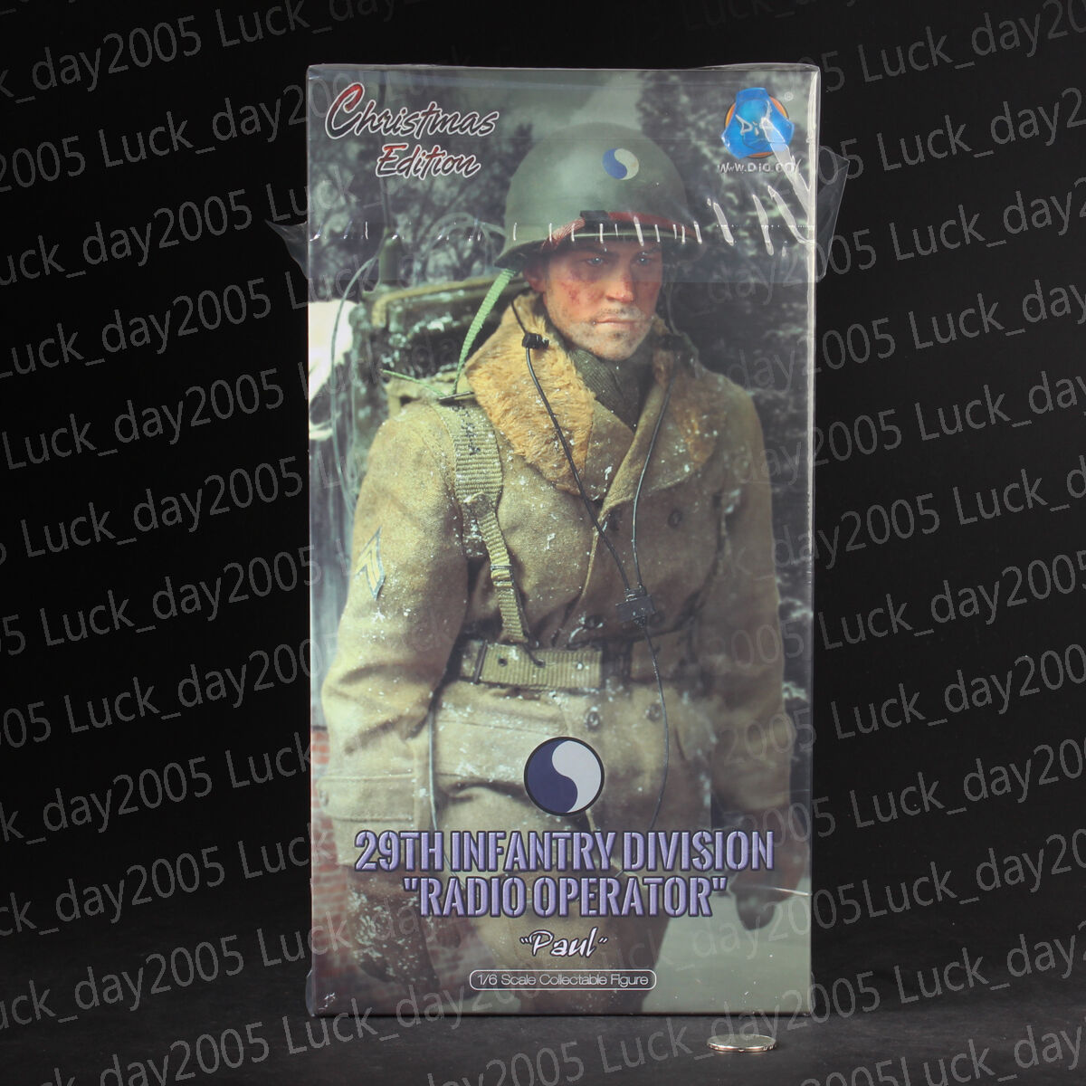 DID WWII US 29th Infantry Division Radio Operator  Paul  1 6 Christmas Edition