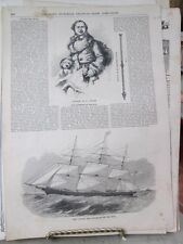 Vintage Print,CLIPPER SHIP,Sourvereign of Seas,Gleasons,1850s