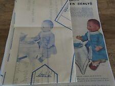 """T6 PATRON POUPEE MICHEL """" MODES ET TRAVAUX"""" ROBE DE CHAMBRE COL MONTANT 1964"""