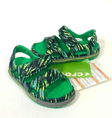 Crocs Crocband II Graphic sandal CHOOSE BOYS SIZE Grass Green NEW