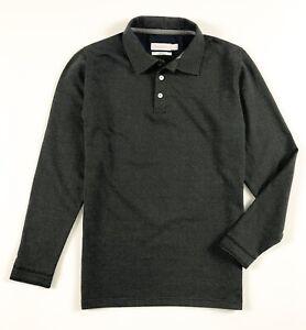 Calvin-Klein-Polo-Shirt-Homme-Body-Fit-Manche-Longue-Tachete-Noir-Polaire
