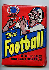 1982 Topps NFL Football Trading Card Pack Sealed and Unopened New Pack