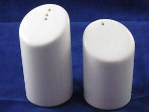 White Salt & Pepper Shakers Waechtersbach German Stoneware NEW