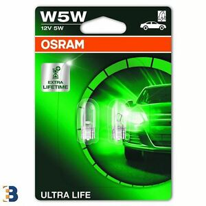 51d2bb78b5d OSRAM Ultra Life W5W (501) 2825ULT-02B Sidelight Wedge Bulbs W2,1x9 ...
