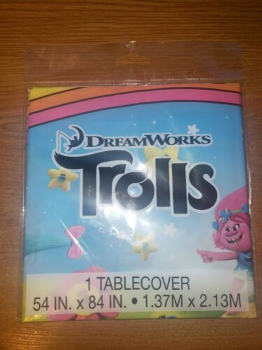 1 Tablecover 54in x 84in New Dreamworks Trolls Tablecover