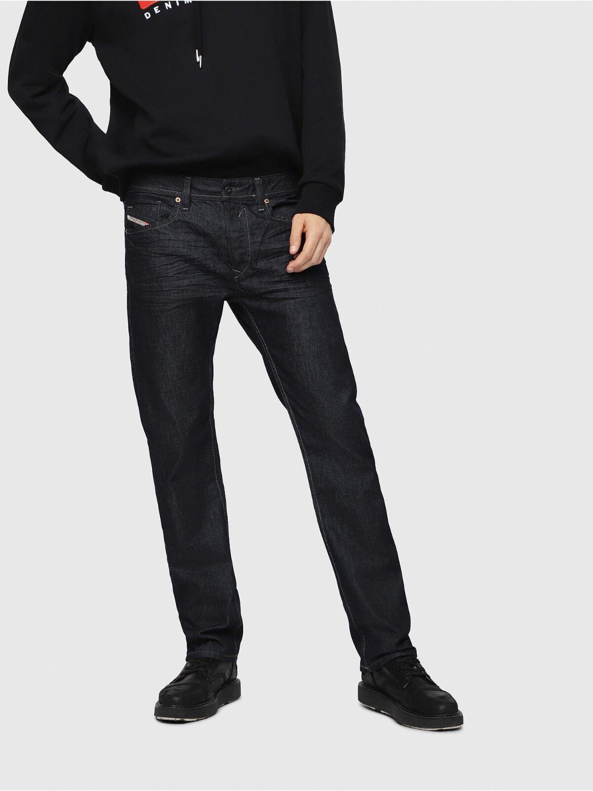 NWT DIESEL Waykee Regular Straight Trousers Denim Size W33 L30 00S11A00Z88