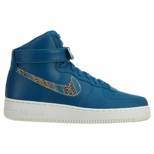 100% authentic 04e4e 116b4 Nike Air Force 1 High  07 LV8 Mens 806403-402 Industrial Blue Shoes Size