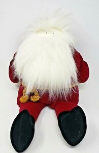 WOOF-amp-POOF-Musical-Santa-Plays-JINGLE-BELLS-21-Inches-Tall-Works-Great