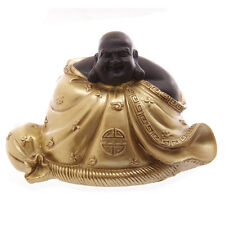 A Large Gold Lucky Laughing  Buddha Great Gift Chan chu Feng Shui Great Gift