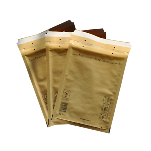 1000x Premium Luftpolster Versandtaschen gold Größe D4 180x260mm außen 200x270