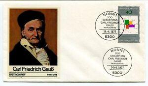 1977 Carl Friedrich Gaub Ersttagsbrief Bonn 1 Geburtstag Deutsche Bundespost Mode Attrayante