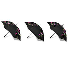 3x London 2012 Black Shard Golf Umbrella (Wind Resistant)