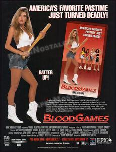 BLOOD GAMES__Orig. 1990 Trade print AD / ADVERTISEMENT__LAURA ALBERT__ROSS HAGEN