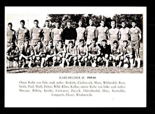 Karlsruhe SC Mannschaftskarte 1965-66