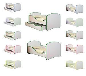 babybett kinderbett jugendbett matratze lattenrost neu 140x70 oder 160x80 bett ebay. Black Bedroom Furniture Sets. Home Design Ideas