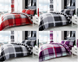 Image Is Loading Luxurious Duvet Cover Sets Waverly Check Reversible Bedding