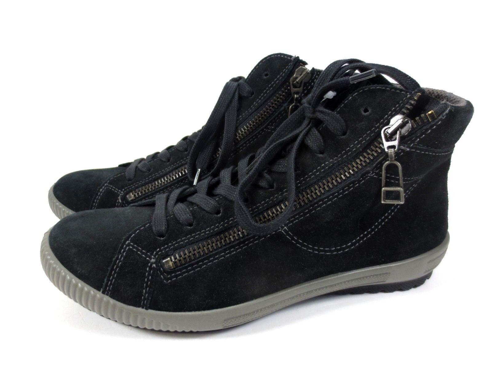 Legero piel cómodas Zapatos abotinados zapatillas zapatos de piel Legero talla 37 UK 4 nuevo 63ef82