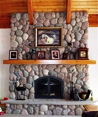 12 RIVER ROCK MOULDS #OOR-02 MAKE 1000s OF CEMENT STONES FOR FIREPLACES & WALLS