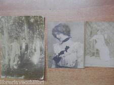 Lotto 3 vecchie foto d epoca inizi 900 per Carte da visite Militare Signorina di