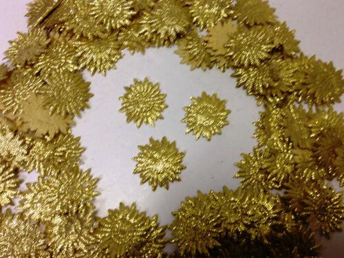 Fabric Glittery Flower 24 mm Motifs x 100 Card Craft Sewing Dresses /& Wedding