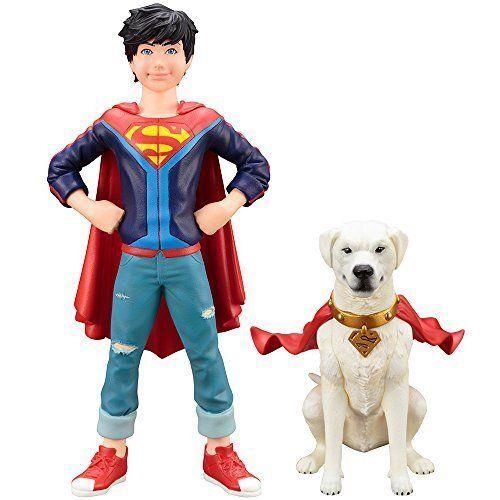 Artfax + Superman Jonathan Kent & Krypto Confezione da 2 1 10 PVC Statuetta