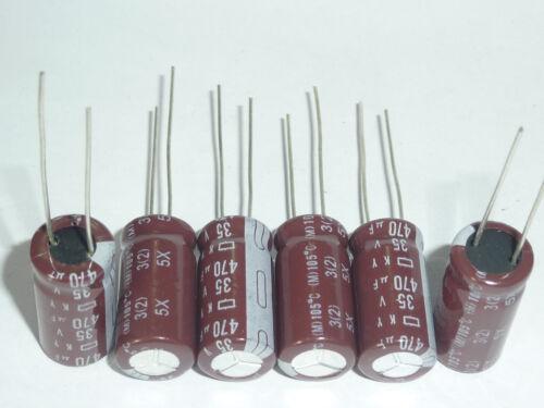 10pcs 470uF 35V  NCC KY Low ESR 35V470uF PC Motherboard Capacitor 10x20mm