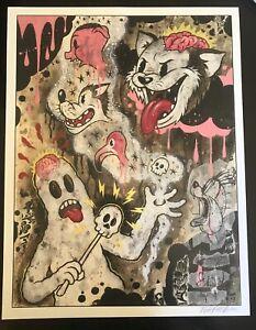 Bizarre-Follies-12x16-signed-print-By-Frank-Forte-Pop-Surrealism-Betty-Boop