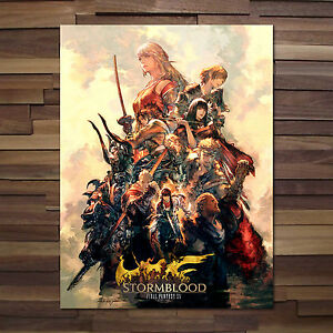 Image Is Loading Final Fantasy XIV StormBlood Poster Square Enix Game