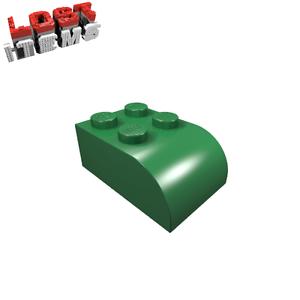 20 x [neu] LEGO Baustein 2 x 3 Oberseite abgerundet - grün - 6215