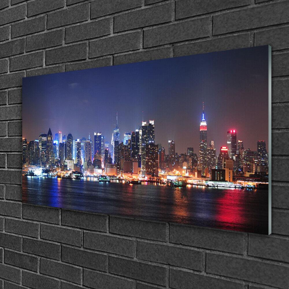 Image sur verre Tableau Impression 100x50 Bâtiments Ville Gratte-Ciel
