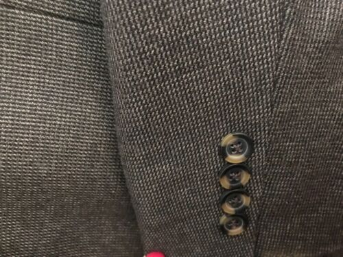 44long Blazer tweed lana di in taglia uomo da marrone 8UqwrF8