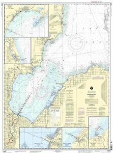 Saginaw Bay,Port Austin,Casevil<wbr/>le,Entrance to Ausable River,Sebewain<wbr/>g and Tawas