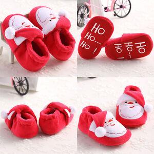 Christmas Santa Shape Toddler Infant Soft Sole Baby Girls ...