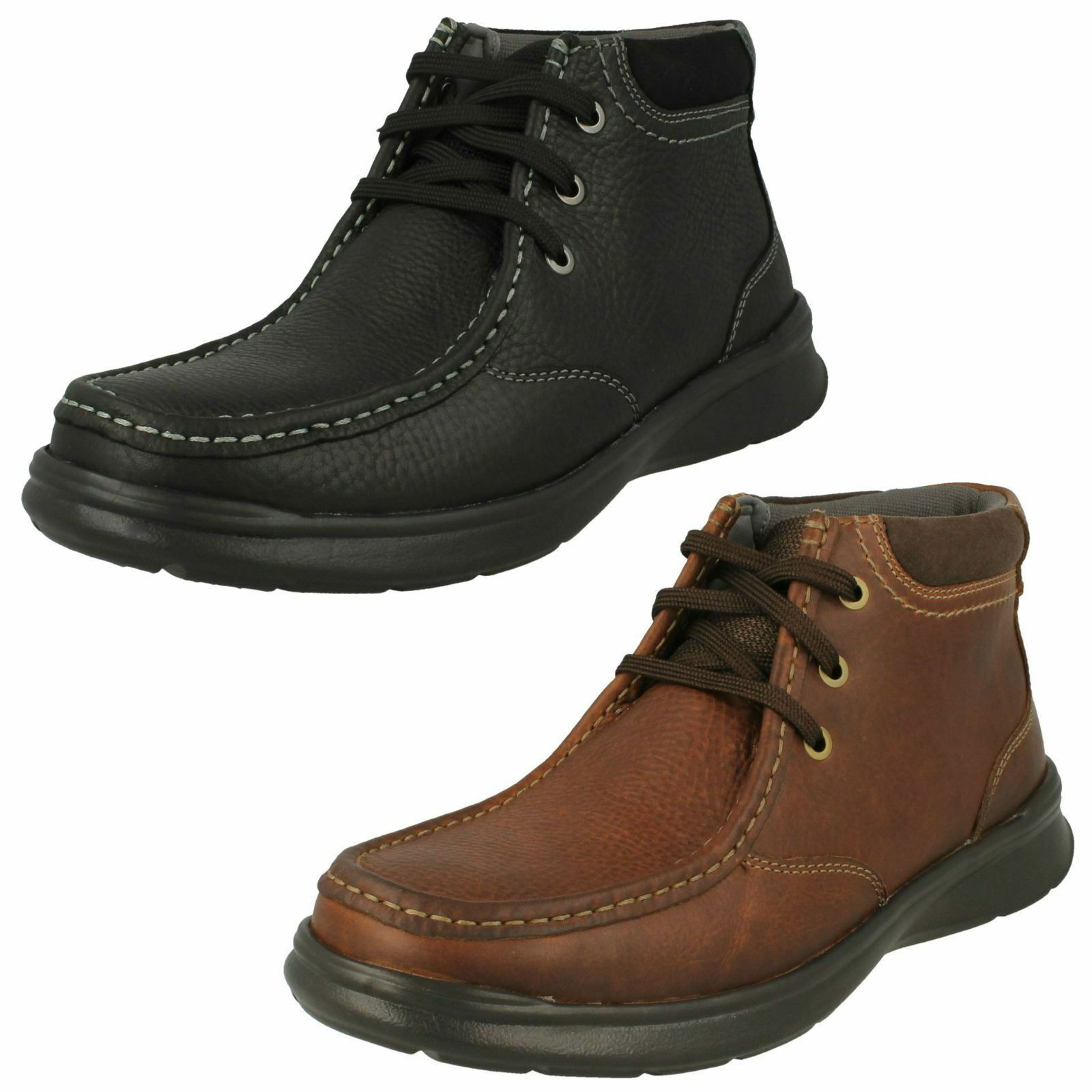Mens Clarks Stylish Lace Up Stiefel Cotrell Top