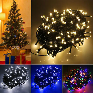Details About 8 Mode Fairy String Christmas Led Lights Ip44 Waterproof Tree Light With Uk Plug