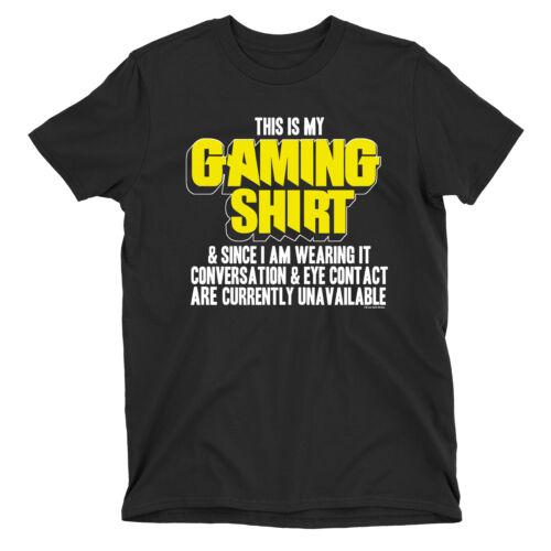 THIS IS MY GAMING SHIRT KIDS Funny Gamer T-Shirt Boys Girls Retro Gaming Top