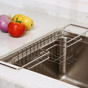 Accessori Per Lavelli Da Cucina.Lavello In Acciaio Inox Da Cucina Caddy Spugna Titolare Per Gli Accessori Da Cucina Ebay
