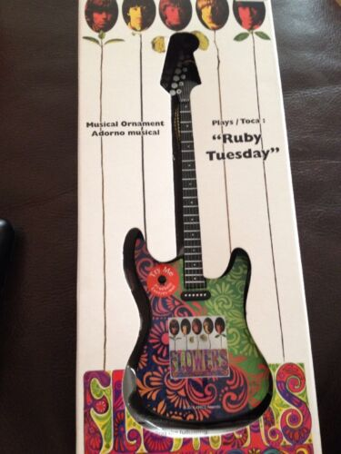 The Rolling Stones Guitar Shaped Christmas Ornament Ruby Tuesday