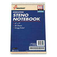 Skilcraft Steno Notebook Exec. Gregg-ruled 80 Sht/pad 6x9 12/pk We 2237939 on sale