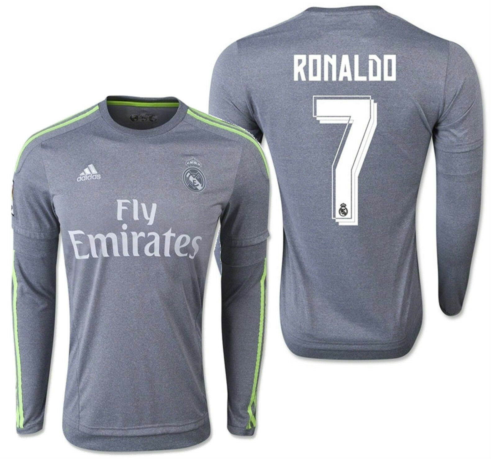 Adidas Cristiano Ronaldo Real Madrid Manga Larga Away Jersey 2015 16 la Liga