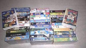 lot-37-cassettes-VHS-popeye-godzilla-halloween-space-jam-casper-etc
