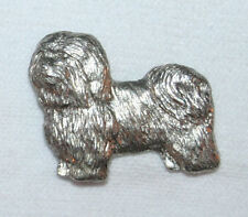 Havanese Dog Fine Pewter Pin Jewelry Art Usa Made