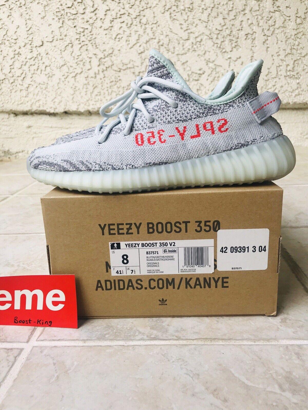 Adidas Yeezy 350 Boost V2 bluee Tint Men's size 8 VNDS