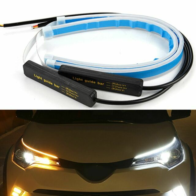 Ultrafine Style Headlight White&Yellow LED Daytime Running Lights SALE